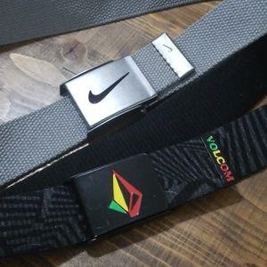 2 Belts Nike & Volcom